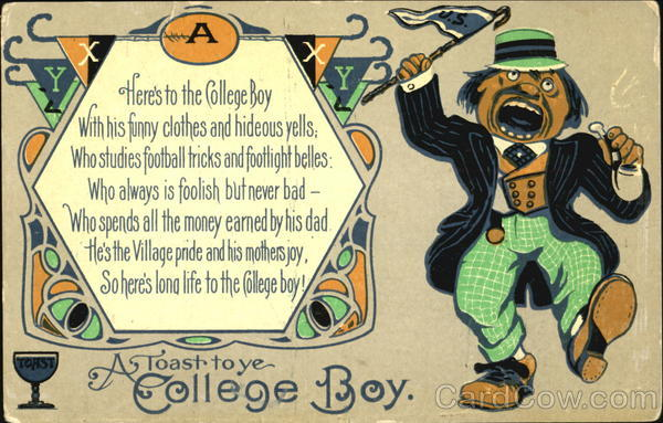 A Toast To Ye College Boy Comic, Funny
