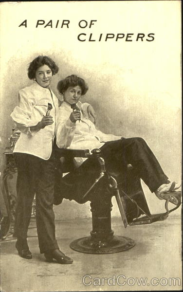 A Pair Of Clippers Barbers Women