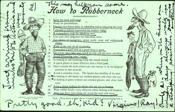 How To Rubberneck Comic, Funny