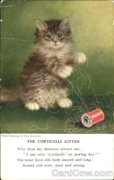 The Corticelli Kitten Cats Advertising