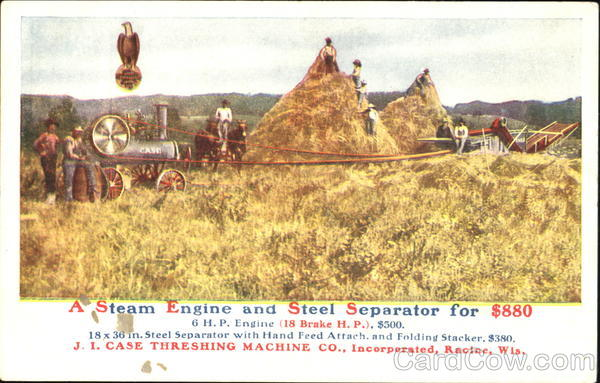 A Case Steam Engine And Steel Separator Advertising