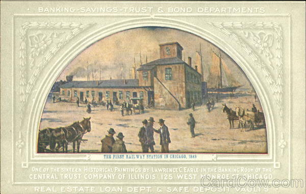 The First Railway Station In Chicago Advertising