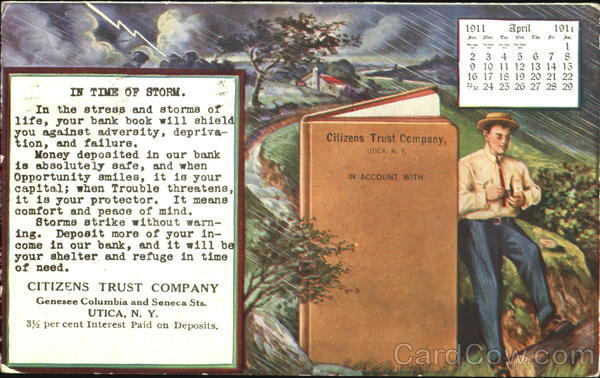 Citizens Trust Company Utica New York Advertising