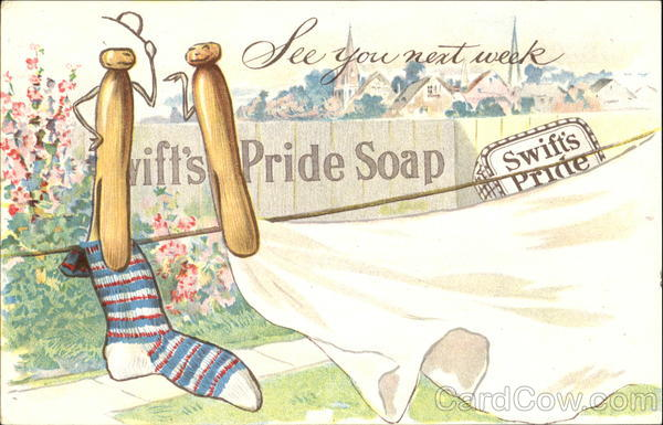 Swift's Pride Soap Clothesline Advertising