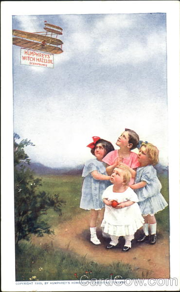 Humphreys' Witch Hazel Oil Advertising