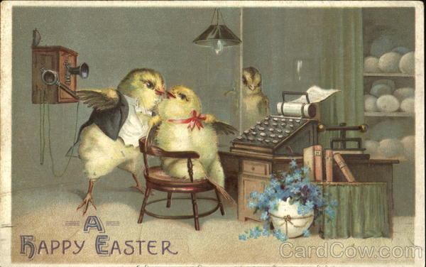 A Happy Easter With Chicks Breweriana