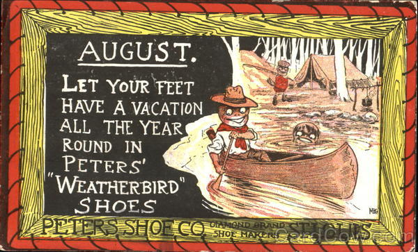 August - Peters Shoe Co. Advertising