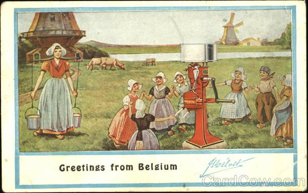 Greetings From Belgium Melotte Advertising