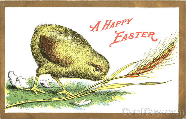 A Happy Easter Advertising With Chicks