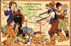 Discussing Crops With The Agriculturists Postcard
