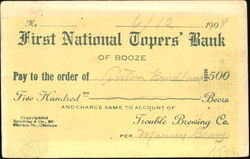 First National Topers' Bank Of Booze