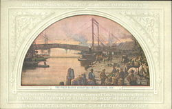 The First Bridge Across The Chicago River