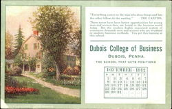 Dubois College of Business December 1912