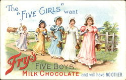 The Five Girls Want Fry's Five Boys Milk Chocolate And Will Have No Other