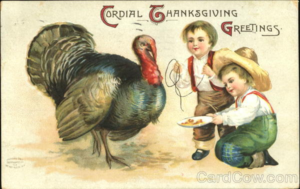 Cordial Thanksgiving Greetings Children