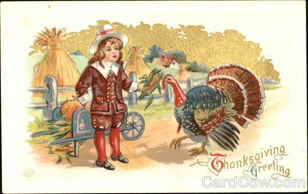 Thanksgiving Greeting Children