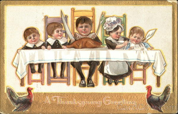 A Thanksgiving Greeting Children