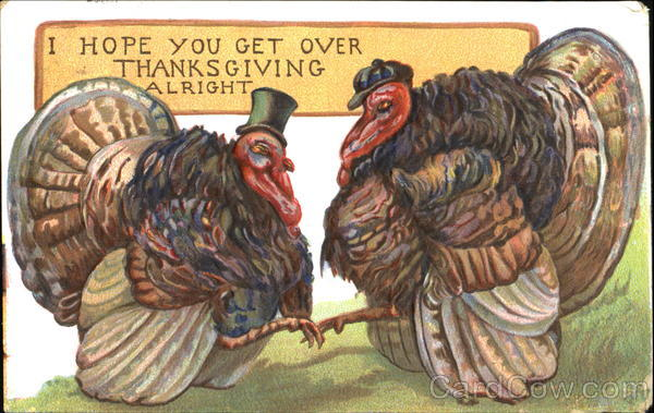 I Hope You Get Over Thanksgiving Alright Turkeys