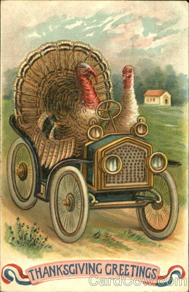 Thanksgiving Greetings Vintage Post Card