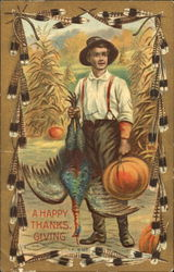 A Happy Thanksgiving Postcard