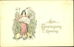 With Thanksgiving Greeting