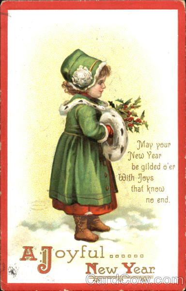A Joyful New Year Ellen Clapsaddle Children