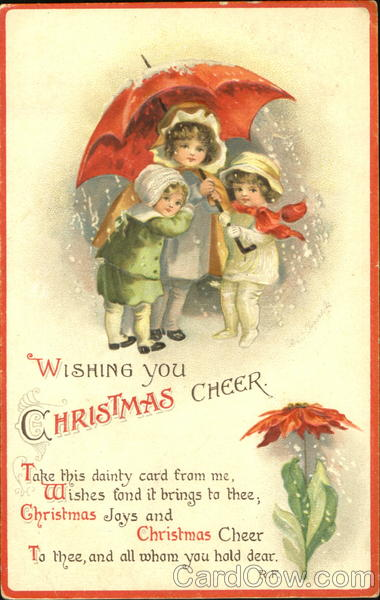 Wishing You Christmas Cheer Ellen Clapsaddle Children