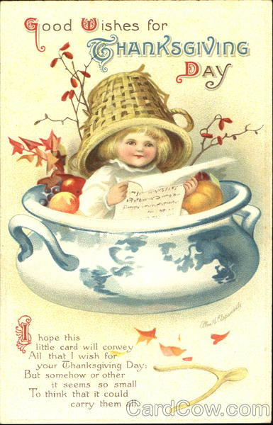 Good Wishes For Thanksgiving Day Ellen Clapsaddle Children