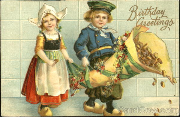 Birthday Greetings Ellen Clapsaddle Dutch Children