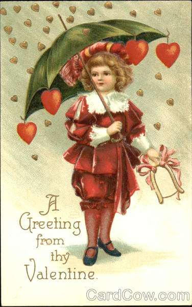 A Greeting Form Thy Valentine Ellen Clapsaddle Children