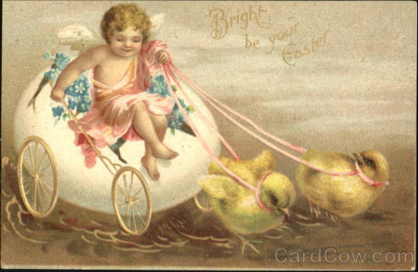 Bright Be Your Easter Ellen Clapsaddle With Chicks
