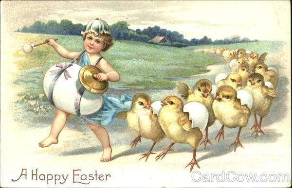 A Happy Easter Ellen Clapsaddle With Chicks