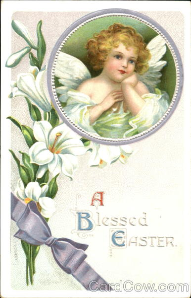 A Blessed Easter Ellen Clapsaddle With Angels