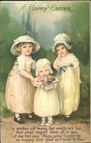 A Happy Easter Ellen Clapsaddle With Children