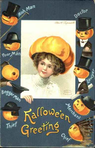 Halloween Greeting Ellen Clapsaddle