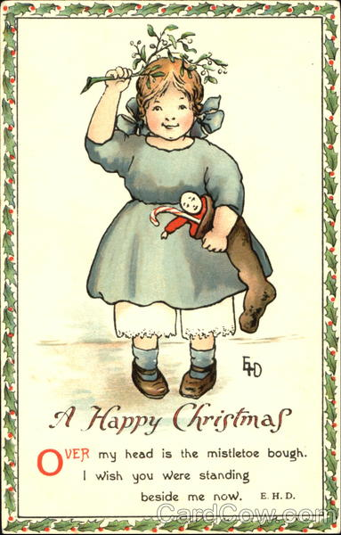 A Happy Christmas Ethel H. Dewees Artist Signed
