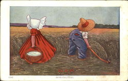 Mowing Time Postcard
