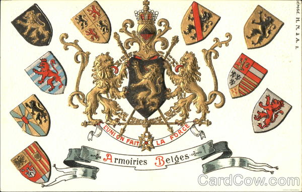 Armoiries Belges Coat of Arms Belgium Benelux Countries