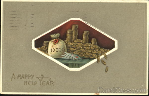A Happy New Year Money & Coins