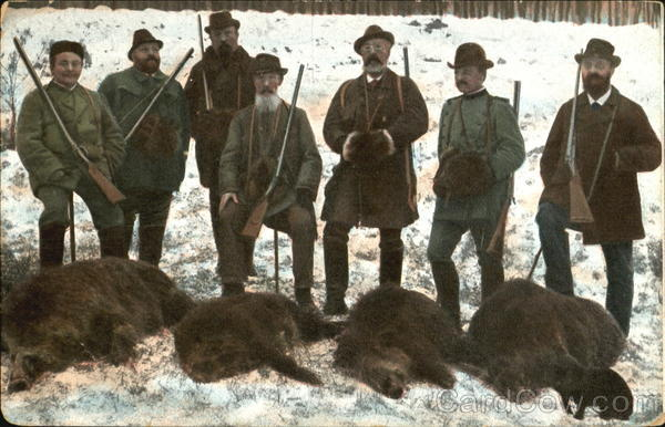 A Successful Hunt Bears Hunting