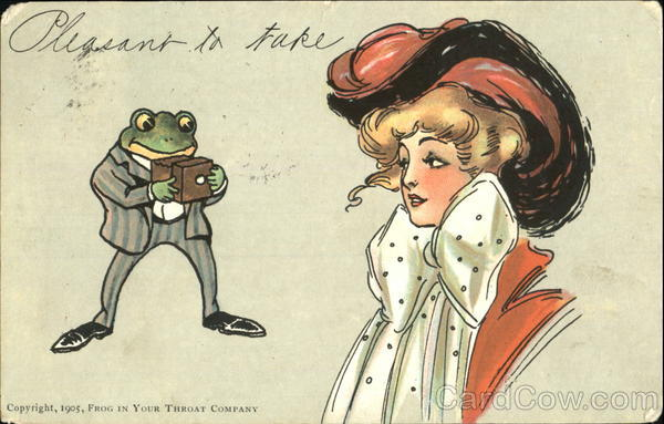 Woman and Frog w/Camera Frogs