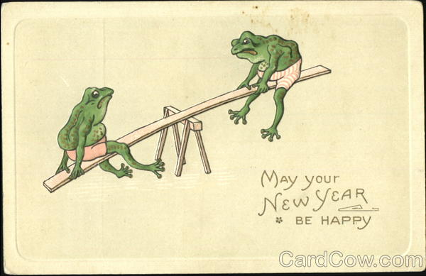 May Your New Year Be Happy Frogs