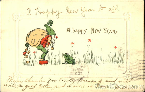 A Happy New Year Frogs
