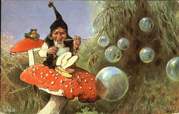 Gnome Blowing Bubbles ...