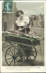 Woman with Fish Cart