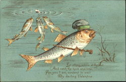 Valentine Fish with Cane