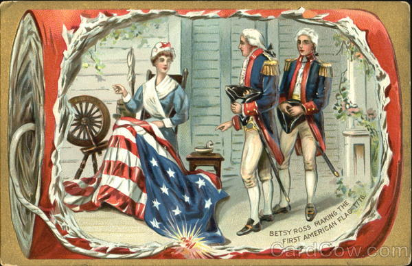 Betsy Ross Making The First American Flag 1776 Patriotic