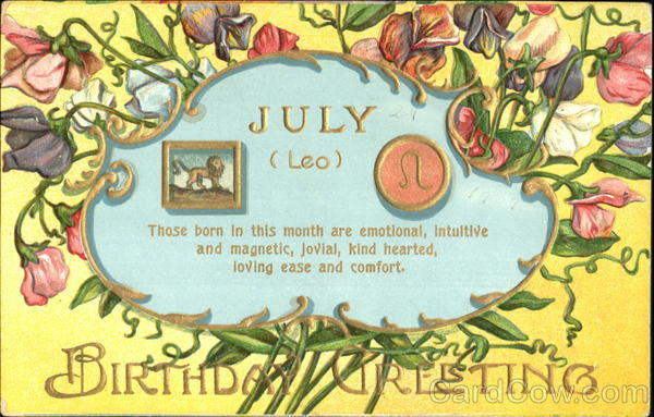 July Leo Birthday Greetings Astrology & Zodiac