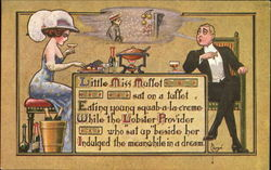 Little Miss Muffet and the Lobster Provider Postcard