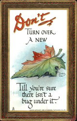 Don't Turn Over A New Leaf